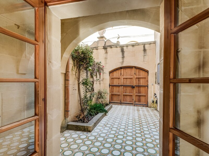 7. Entrance courtyard with patterned tiles