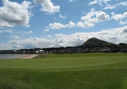 View of North Berwick from the 1st Green