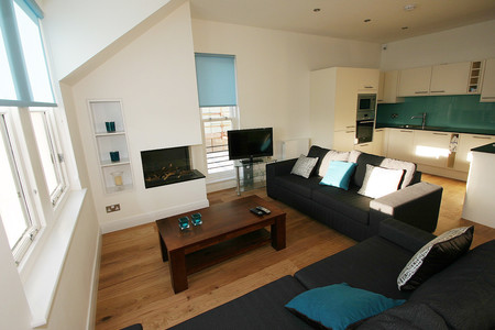 Gullane self caterring apartment - Spacious sitting room