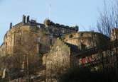 zoomed view of Edinburgh Castle