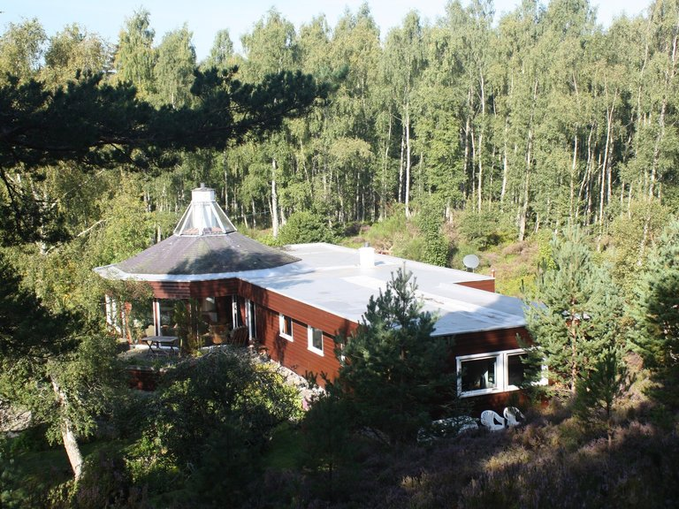 Spey Lodge - Secluded Home in the Cairngorms - Aerial Shot of the property (© Dunpark Property Agents)