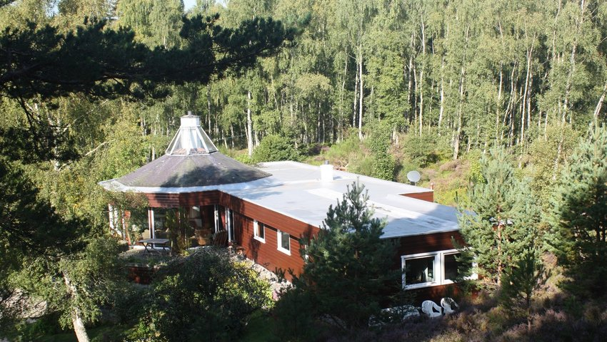 Spey Lodge - Secluded Home in the Cairngorms - Aerial Shot of the property
