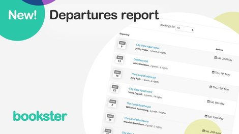 Departures report for cleaners - A report which shows the upcoming departures for holiday rental properties