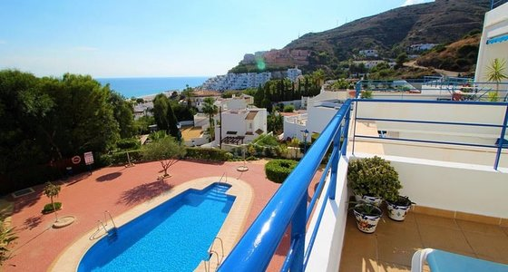 Terrace  with Pool & Seaview Alcazaba