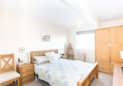 Double bedroom at Golf View North Berwick