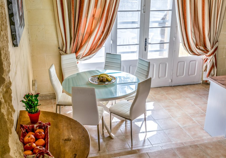 Dining area with a table