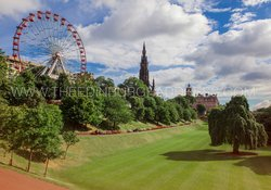 Edinburgh Festival Wheel and Scott Monument