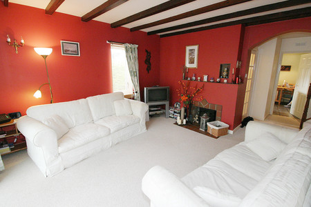 Sitting room with wooden beams, Aberlady cottage ,Scotland self catering - Sitting room with wooden beams, Aberlady cottage ,Scotland  self catering