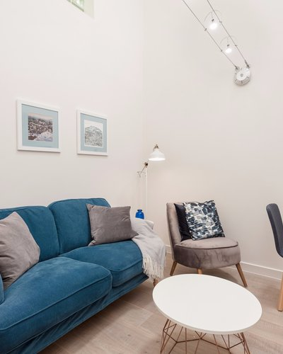BroughtonPlaceLane-8 - Light, open plan family living and kitchen area at Edinburgh holiday let