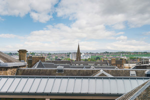 View of rooftops over Edinburgh