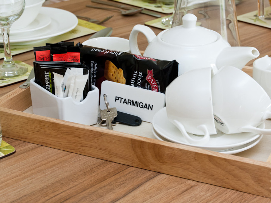 Ptarmigan welcome tray