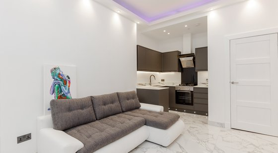 Lounge-Kitchen (3) - Ultra-modern open plan living/kitchen area in Edinburgh holiday let