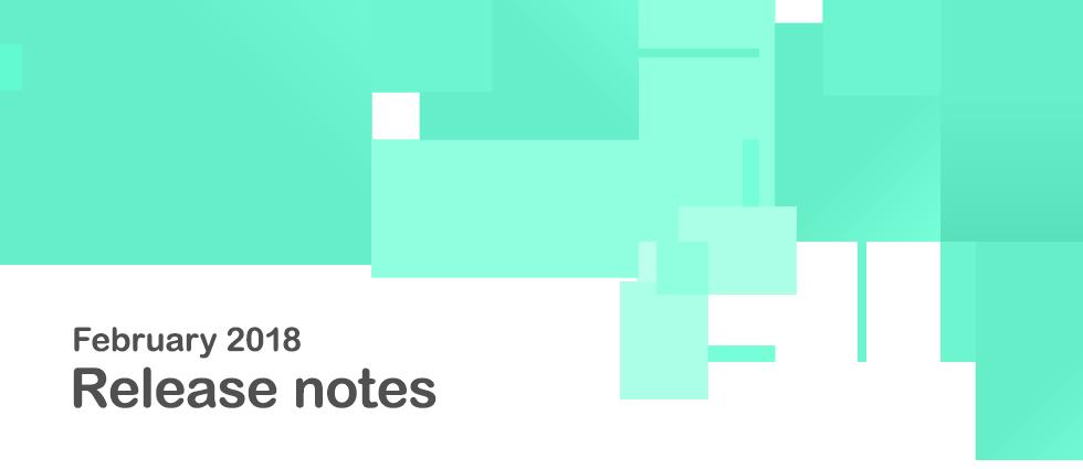 Release notes image (Feb, 2018) (© Tribalogic Ltd. 2018)