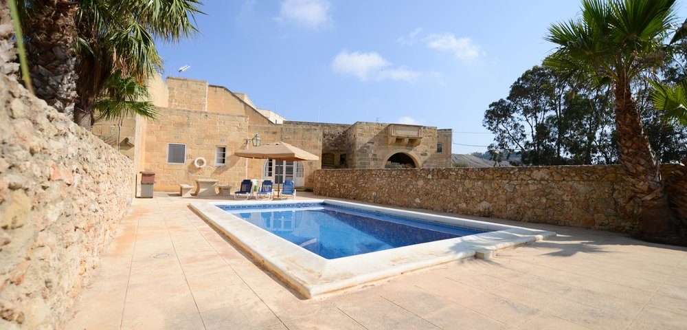 Gozo villa with a private swimming pool