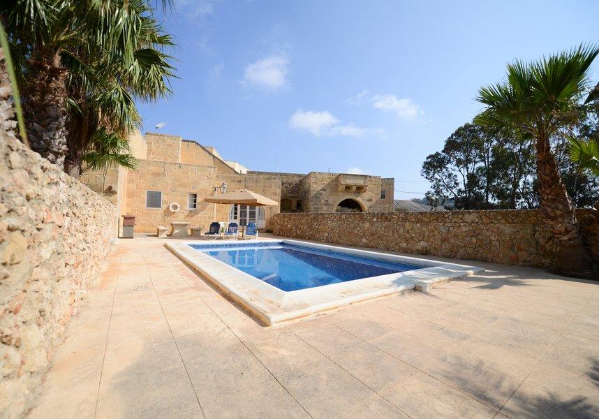 Gozo villa with a private swimming pool