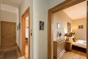 Hallway looking into bedroom of holiday rental property