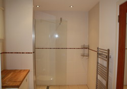 spacious walk in shower room