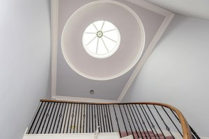 Beautiful cupola in entrance stairway to Edinburgh holiday let
