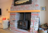 fireplace and wood burner