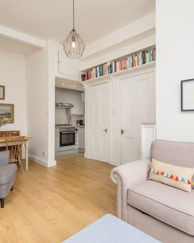 Waverley Park No.1 3 - Open plan living/dining/kitchen area with traditional polished floorboards