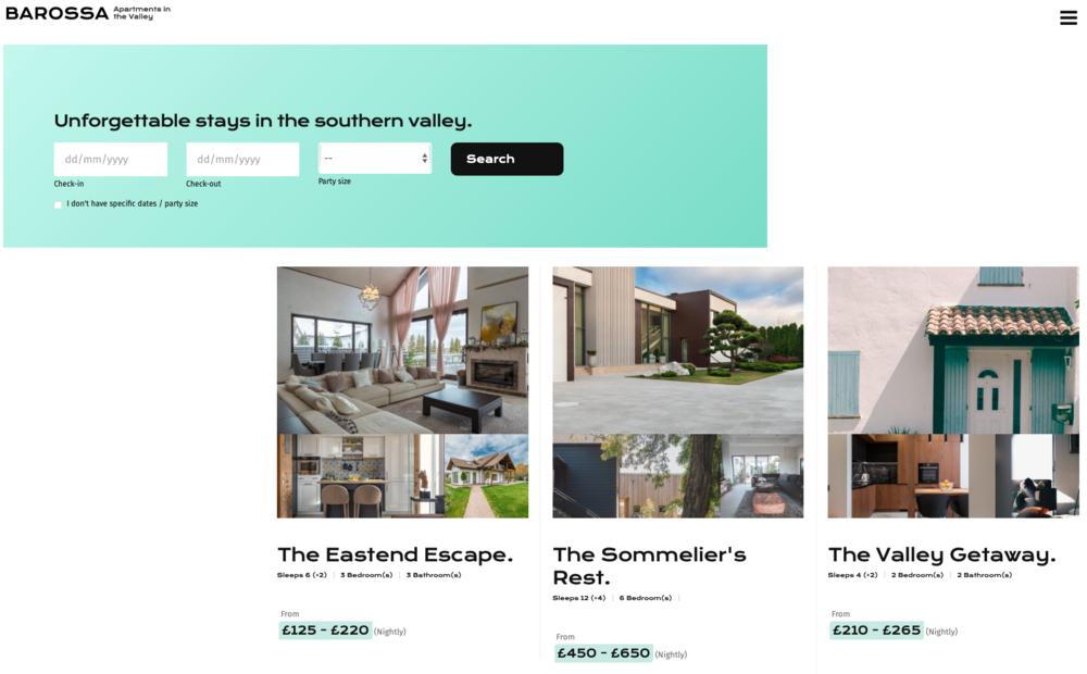 Screenshot of Barossa Theme - Bookster Template Website theme 'Barossa' (© Bookster 2021)
