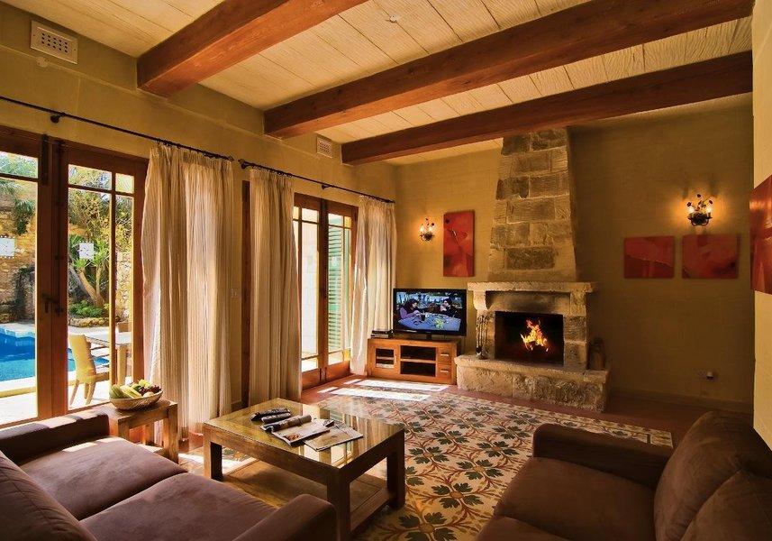 Lounge area in the Gozo villa