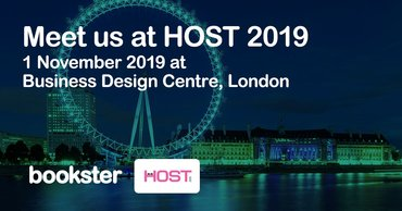 Host Conference 2019 - Meet Bookster at Host Conference 2019 to discuss holiday rental system requirements