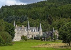 Generic pic of Scots baronial home near LOch Katrine