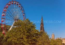 Edinburgh Festival Wheel & Scott Monument
