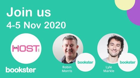 Bookster attends Host 2020 for holiday rental professionals - Join Lyle Markle and Robin Morris as they present at Host 2020 event for holiday rental managers, owners and agencies.