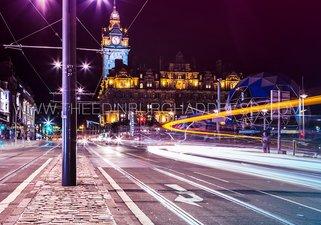 Edinburgh - The Balmoral at night