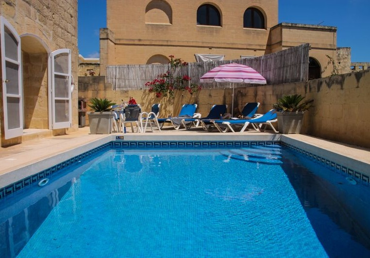 Swimming Pool in the Gozo villa