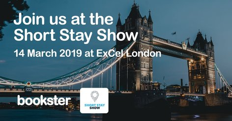 Short Stay Show 2019 - Meet Bookster in London ExCeL at the Short Stay Show 2019