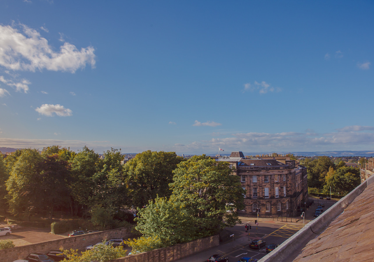 Apartment Views - Stunning views from the apartment windows to the North. (© The Edinburgh Address)