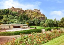 Edinburgh Castle and Ross Bandstand