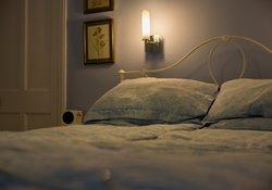 Dimmed light in the bedroom