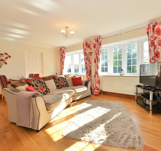 Sunny living area - Godshill - Wight Holiday Lettings - Sunny living area