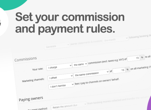 Set your commission and payment rules