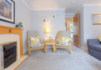 Living room with comfortable seating for 4