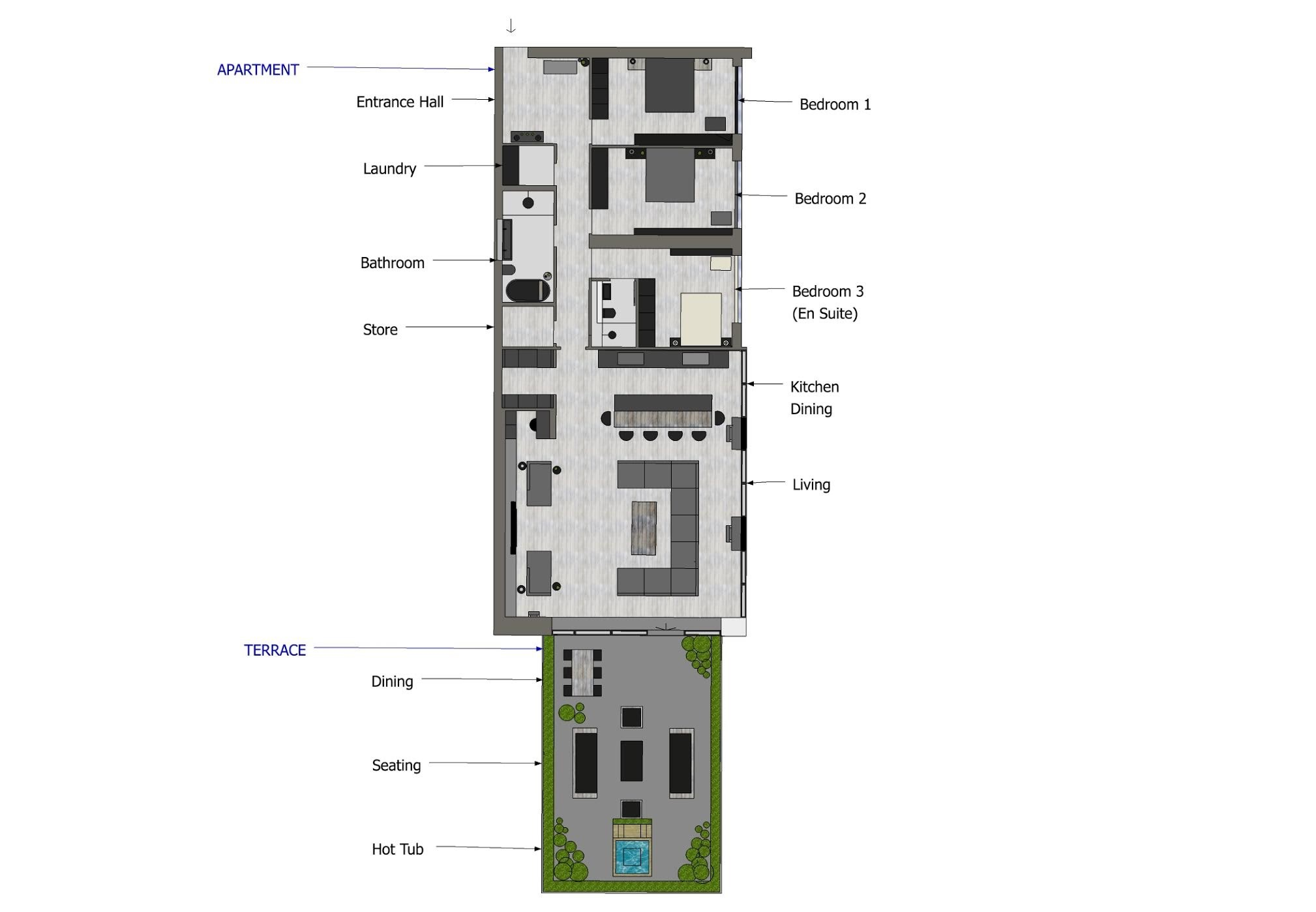 Quartermile luxe floor plan 3
