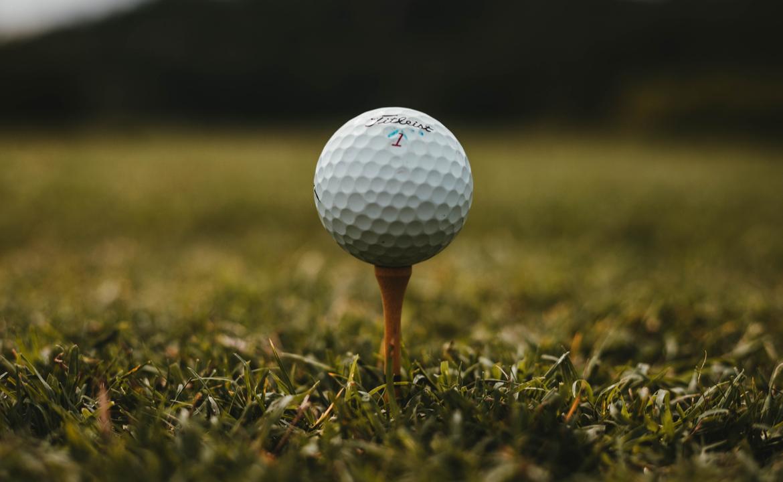 Golf ball on peg