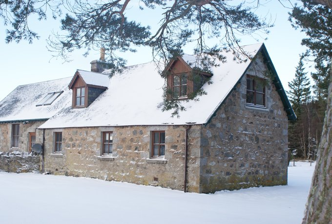 The School House in snow