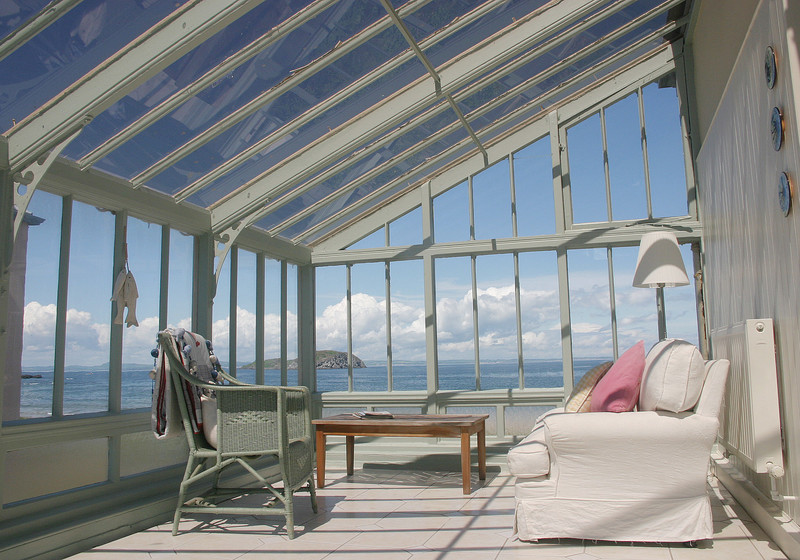 Accommodation East Lothian Scotland - Conservatory with breath-taking views