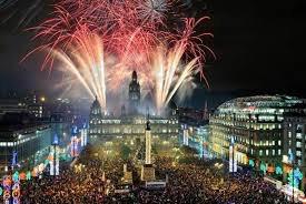 Hogmanay - Photo of Street Party and Fireworks - Edinburghs Hogmanay