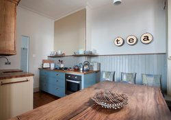 Stylish kitchen with views of North Berwick's east beach.