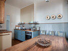 Stylish kitchen with views of North Berwick's east beach. - Kitchen/ Dining room