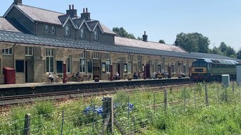 Hellifield Railway Station - An exterior view of the station building (© Andy Dean)
