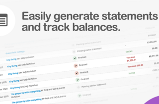 Easily generate statements and track balances