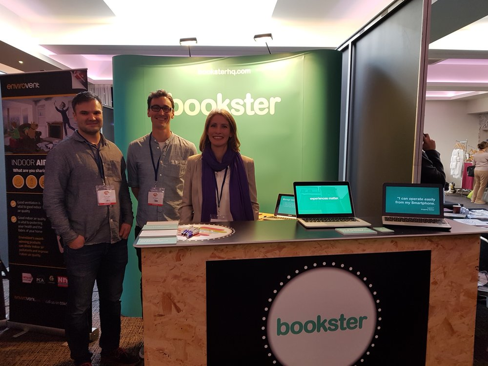 Bookster team at Be My Guest stand 2018 - The team of Bookster property management software at the Be My Guest conference (© Bookster)