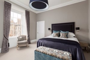 Spacious Master Bedroom with kingsize bed and large window